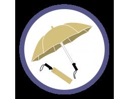 Бежевые складные зонты (1)