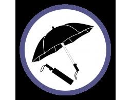 Черные складные зонты (25)