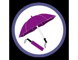 Фиолетовые складные зонты (1)