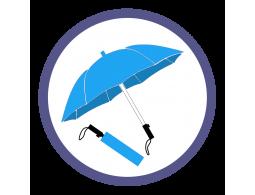 Голубые складные зонты (Производство)