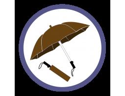 Коричневые складные зонты (1)