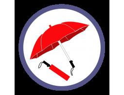 Красные складные зонты (16)