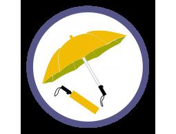 Оранжевые складные зонты (4)