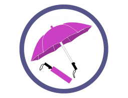 Розовые/фукси складные зонты (1)