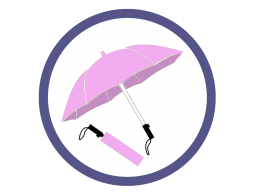 Сиреневые складные зонты (Производство)