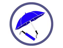 Синие складные зонты (24)