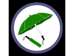 Зеленые складные зонты (4)