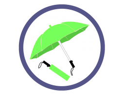 Складные зонты цвета Зеленое яблоко (3)