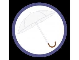 Белые зонты трости (5)