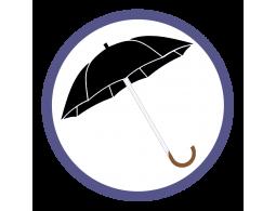 Черные зонты трости (26)