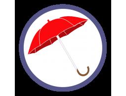 Красные зонты трости (13)