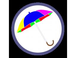 Зонты трости двух и более цветов (18)