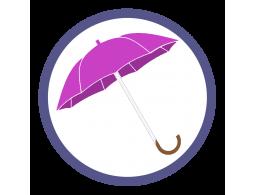 Розовые/фукси зонты трости (Производство)