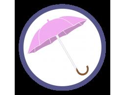 Сиреневые зонты трости (Производство)