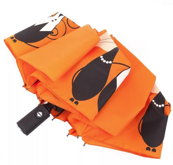 Купить оранжевые складные зонты оптом